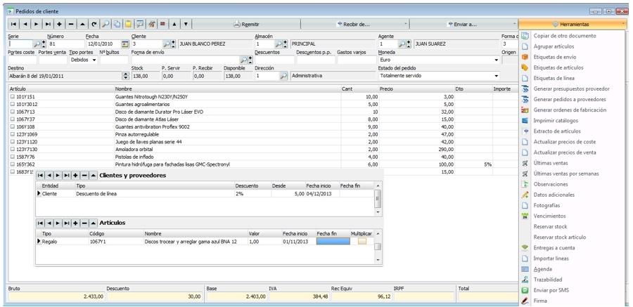 Programa software erp ferreteria alicante inform tica for Ferreteria tecnica de alicante